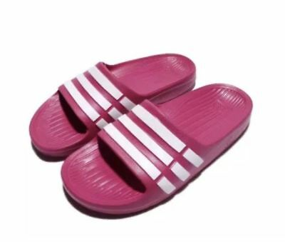 c002b20aaeae9d ADIDAS DURAMO KIDS Slides Boys or Girls Size 11 - 6 Sandals Black ...