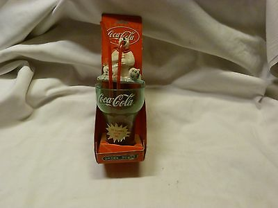 Coca-Cola Drink Buddy Kid Cup with Curly Straw Cup and Polar Bear