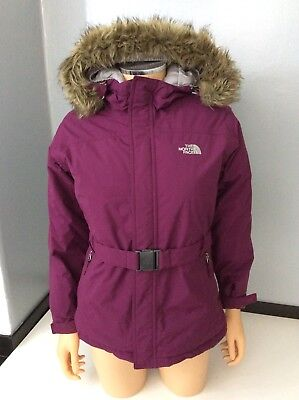 The North Face Purple 550 Hyvent Down Jacket Coat Size L/G age 14-16 Years Uk 6