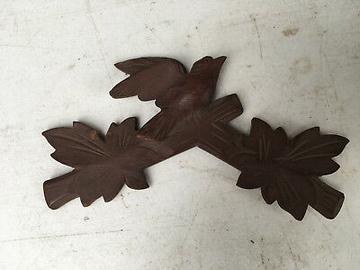 Vintage Small Bird Cuckoo Clock Crest for Parts / Repair  CC23