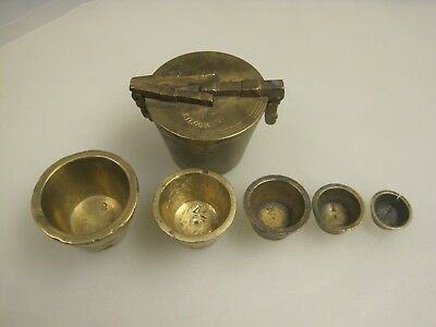 Antique 19th Century Brass Apothecary 1 Kilogram Nesting Weight Set B9974
