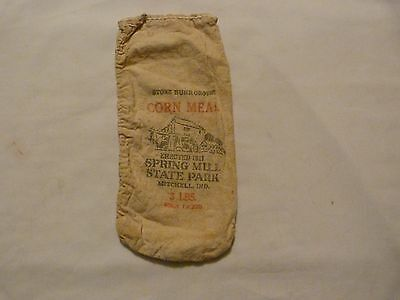 Vintage Corn Meal Bag Spring Mill State Park Mitchell Indiana DNR Div State Park