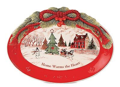 Fitz and Floyd 'Home Warms the Heart' Sentiment Tray NEW IN BOX