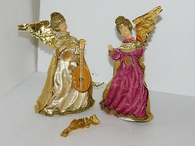 Wax Angels Handerbeit Koestel Hand Made in West Germany Craft Vintage Christmas