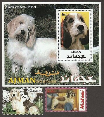 SALE!! PETIT BASSET GRIFFON VENDEEN*Int'l Dog Stamp Collection*PBVG Gift Idea**