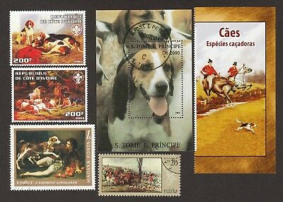 ON SALE!!  FOXHOUND **Int'l Dog Stamp Collection**Great Gift**English & American