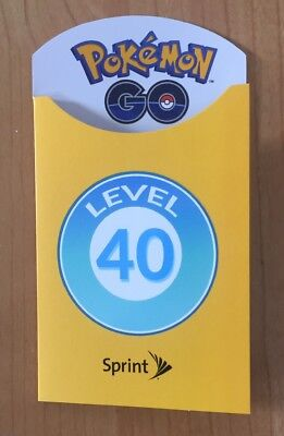 Pokemon GO SPRINT Trainer Badge Level 40 LIMITED EDITION