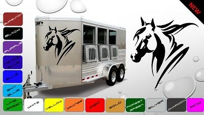 2x Large Horse Horsebox Trailer Vinyl Stickers Decals Graphics (BWP62)