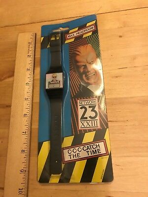 Max Headroom SEALED Digital-watch  Collectible Watch New Old Stock