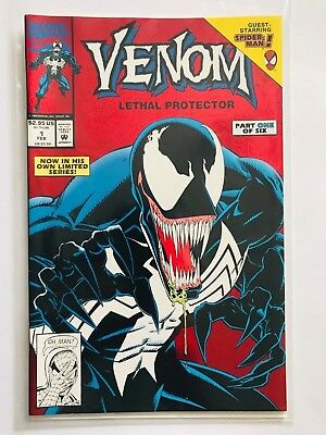 VENOM: LETHAL PROTECTOR #1 FOIL 1992 FIRST PRINT MARVEL COMICS  Fast Shipping!
