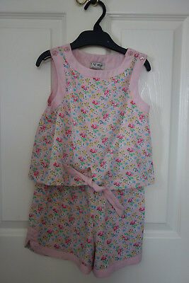 Girls playsuit. Aged 5 years from NEXT. Used. Pink. V.G.C