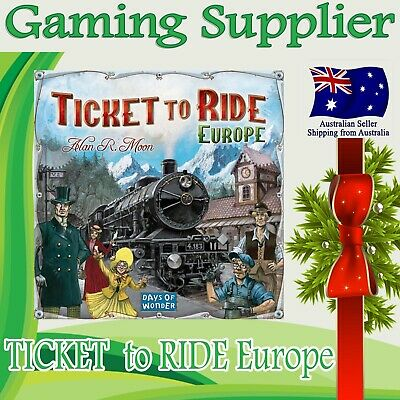 Brand new TICKET TO RIDE Europe Edition Family Board Game Great Gift Idea