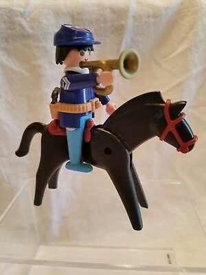 Playmobil Western Fort Bravo 3773 Union Soldier Wbugle And Horse