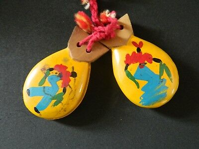 Vintage Authentic Latino Castanets