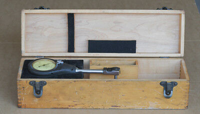 Federal 1201P-1 Dial Indicator Bore Inspection Gauge with original wooden case