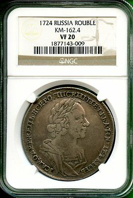 Russia 1724  Rouble  Km-162.4  Ngc Vf20 Very Rare