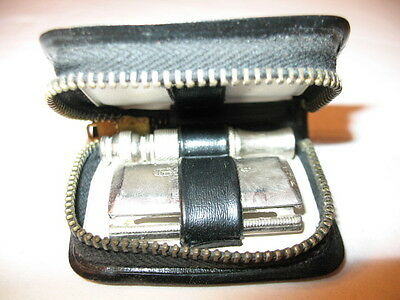 "Vintage Collectable Shaving Kit By ""gillette"" In Travel Case"