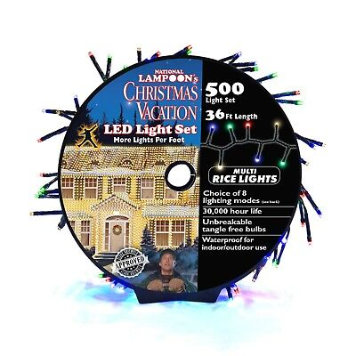 Christmas Vacation 500-Bulb LED Cluster Rice Outdoor Mulitcolored String Lights