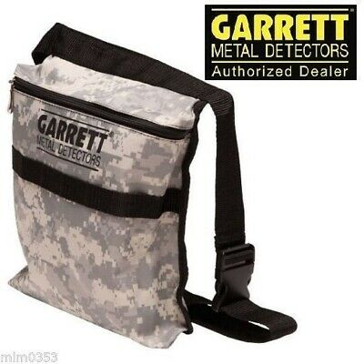 Garrett Camo Metal Detecting Canvas Finds Recovery Bag Pouch with Belt # 1612900