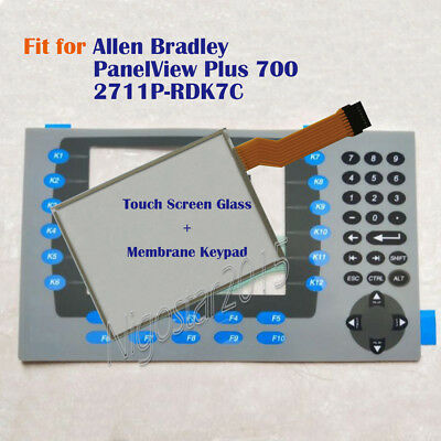 New for Allen Bradley PanelView Plus 700 2711P-RDK7C Touch Screen Glass + Keypad