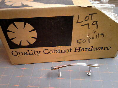 NOS Vtg Mid Century Retro Chrome Amerock Cabinet Handle Drawer Pulls 1960s