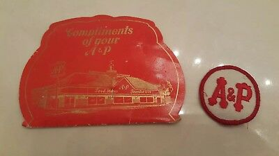 Vintage Antique Advertising A&P Clothing Patch And Sewing Kit