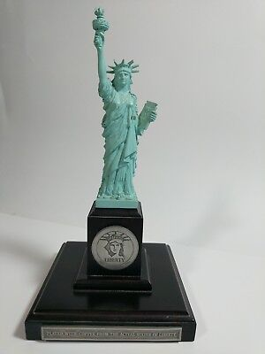 """STATUE of LIBERTY 10"""" DANBURY MINT 1986 Plated w/ Copper From Actual Statue EUC"""