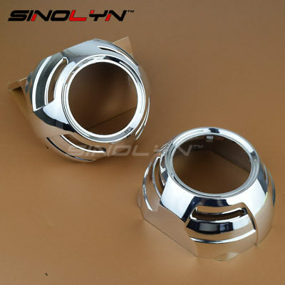 Chrome Apollo 2.0 Flat Projector Shrouds Mask Hoods For 3.0'' Projector Lens