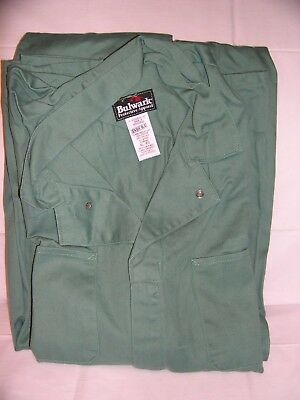 Bulwark Flame Resistant 100% Cotton Xl-Reg Coveralls Arc Rating 7.7 Atpv