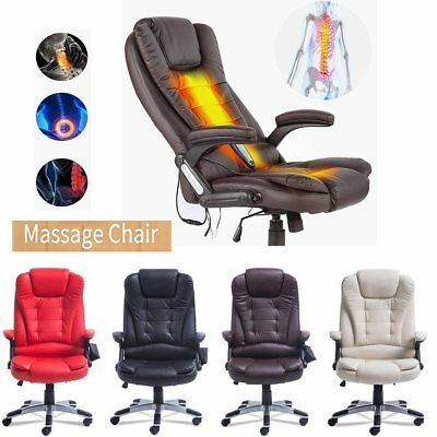 360° swivel Home Office 7 Point Gaming Massage Chair & Heating Function New PP