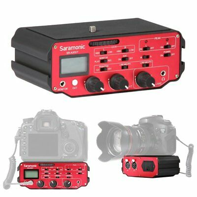 Saramonic SR-AX107 2-Channel XLR Audio Mixer w/Preamplifiers for DSLR Camera