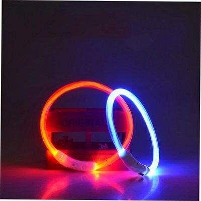 Dog Collar Usb Rechargeable Night Safety Collar Led Light Up Flashing B2