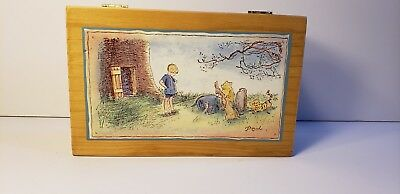 Classic Winnie The Pooh The Walt Disney Company Wood Box with Brass Hinges