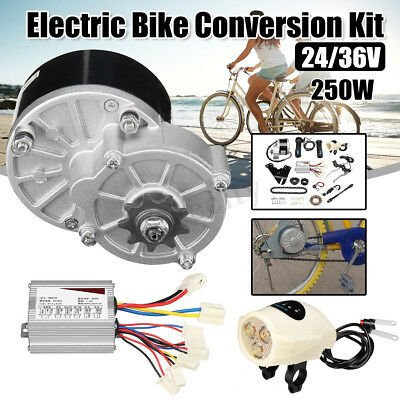 24/36V 250W Electric Bike Conversion Motor Controller Kit For 22-28'' Bicycle