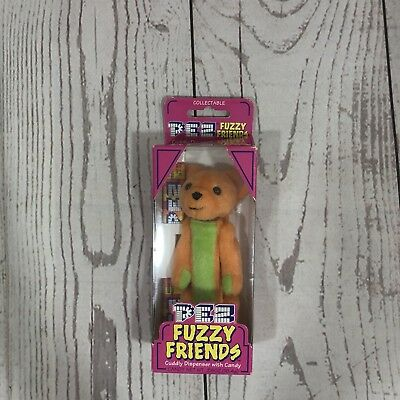 Pez Fuzzy Friends Cuddly Dispenser With Candy New In Box