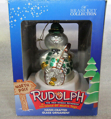 Rudolph and the Island of Misfit Toys ~ SAM ~ Snowman Glass Ornament