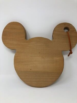 Disney Mickey Mouse Head Wooden Cutting Board Wood Display Decor Kitchen Gift