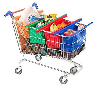 4in1 Shopping Trolley Bags Reusable Eco-Friendly Supermarket