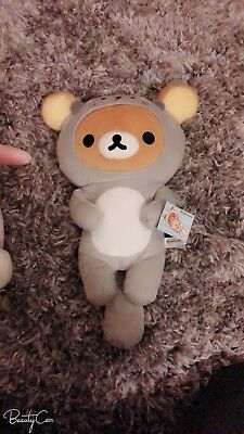 Sea Otter Rilakkuma Plushie Gray Color Outfit 16""