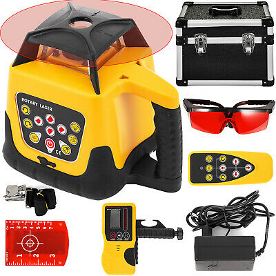 Rotary Laser Level Red Beam 500m Range Rotating Remote Control Horizontal GREAT