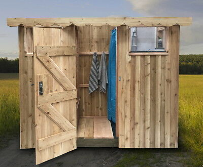 Glamping Compost Toilet & Shower Unit, Eco loo & Gas Shower