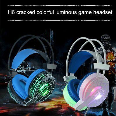 Gaming Headset Surround Stereo Headband Headphone USB 3.5mm LED with Mic IO