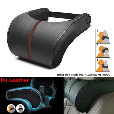 Auto Car Seat Headrest Head Pillow Pad Memory Foam Neck Rest Support Cushion