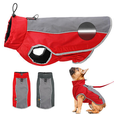 Dog Coats Waterproof Reflective Fleece Dog Jacket Clothes for Pitbull Chow Chow