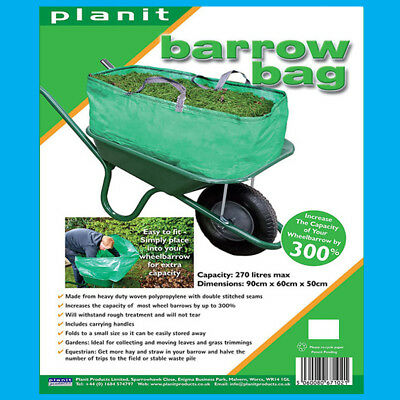 Barrow Bag, Garden Waste Disposal Triple Capacity Wheelbarrow Easy Fit 270L bag