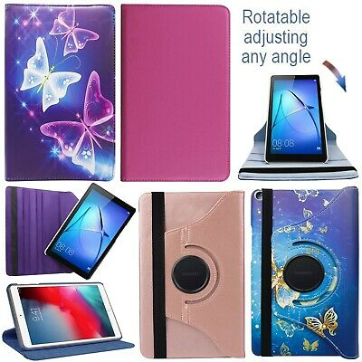 """For Huawei Mediapad T3 10 (9.6"""") 360° Rotating Leather Flip Tablet Case Cover"""