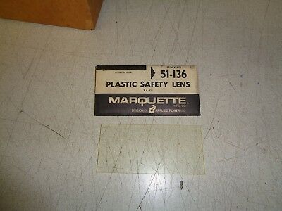 "Marquette Plastic Safety Lens Replacement Welding Helmet 51-136 2"" x 4 1/4"""