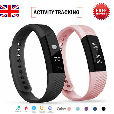Smart Bluetooth Fit Activity Tracker Sports Watch Pedometer Wristband Bit UK