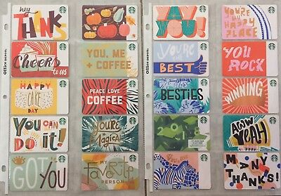 Lot 20 Starbucks 2018 (Recycled Paper) gift card set NEW!