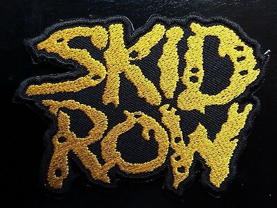 Skid Row American Heavy Metal Core Rock Music Band Embroidered Patch Uk Seller